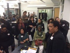 Women exchanging ideas. Photo:Kathleen Hulser