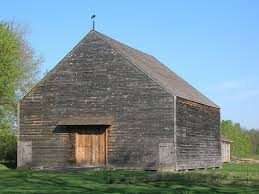 Reconstructed Dutch Style Barn at the Mabee Farm in Schenectady County