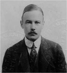 Photo of grown-up Baby McKee, from his passport