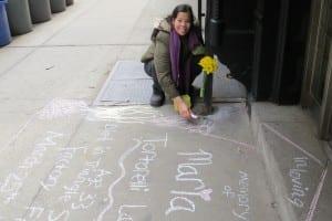sidewalk chalk Maria Tortorelli