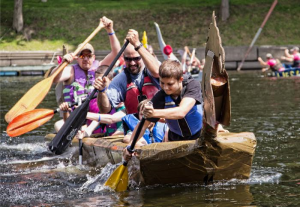 hudson river cardboard boat race