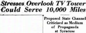 headline from the Kingston Daily Freeman January 17 1953