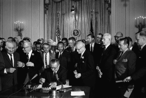 President Johnson Signs Civil Rights Act 1964