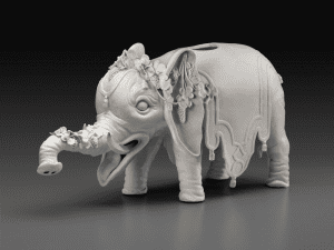 porcelain elephant wine dispenser