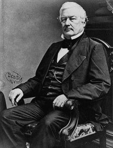 portrait of President Millard Fillmore, Powers' father, by Matthew Brady