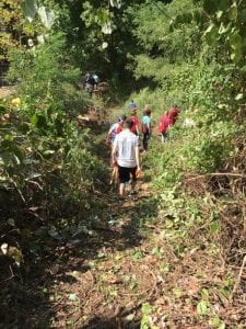 marist-college-students-clearing-trails