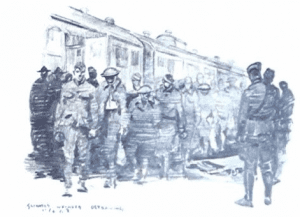 Wounded Soldiers Arrive at Base Hospital 48
