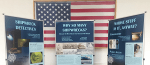 shipwreck display