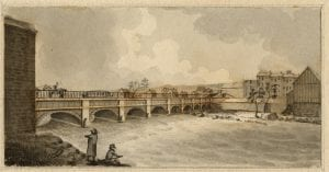 Aqueduct Bridge at Rochesters James Eights 1823 (Albany Institute of History & Art Gift of James Eights 1836)