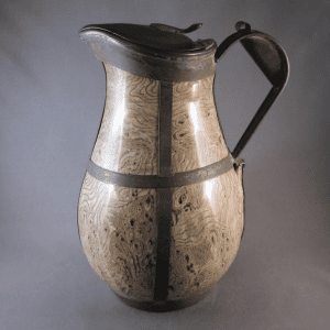 Agateware jug, mid-19th century with later alterations