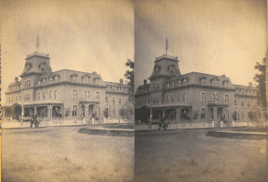 stereograph of Hatfield House in Massena Springs, ca. 1890