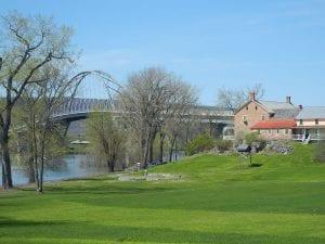 the Lake Champlain Bridge