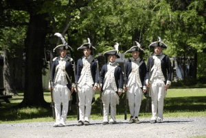 Continental Army Soldiers from the 7th Massachusetts Regiment Drill on the Grand Parade at the New Windsor Cantonment