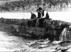 Fishing on the dam of the West Troy Water Works