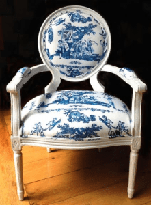 """White Louis XVI End Chair, Women's Rights are Human Rights"" by Laurel Garcia Colvin"