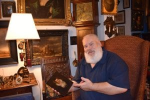 George Way surrounded by some of his collections