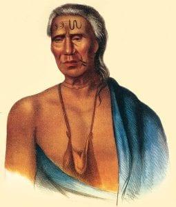 Lapowinsa, Lenape chief, 1735