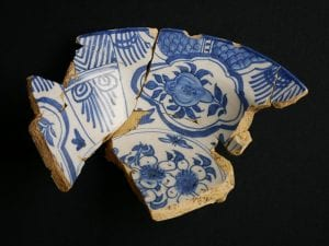 The remains of a delft bowl