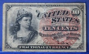 Fractional Currency 10 cents courtesy Ferris Coin