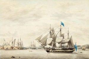 HMS Asia in Halifax Harbour, 1797