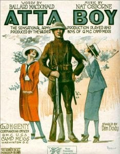 Illustration: The cover of sheet music for Atta Boy!
