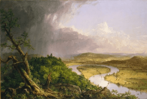 View from Mount Holyoke, Northampton, Mass, after a thunderstorm, by thomas cole