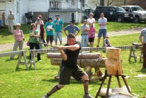 woodsman axe demo