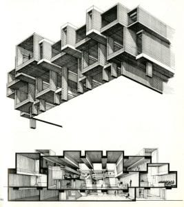 Conceptual drawings were presented by Paul Rudolph to the Board of Supervisors in 1963
