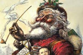Early Santa (Sint Nikkolas) with a long stemmed Dutch pipe.