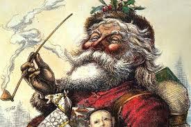 Early Santa (Sint Nikkolas) with a long stemmed Dutch pipe.