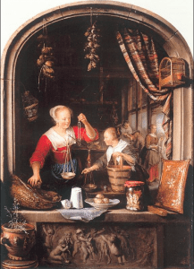 The Grocery Shop by Gerrit Dou 1672