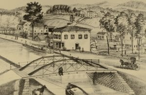 erie canal sketch