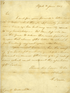 letter exchanged between Alexander Hamilton and Aaron Burr