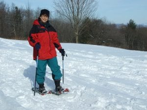 saratoga battlefield snowshoeing