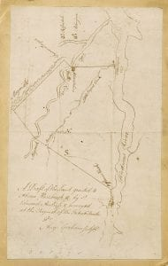 1709 Draught of the Land granted to Abraham Hassbrook