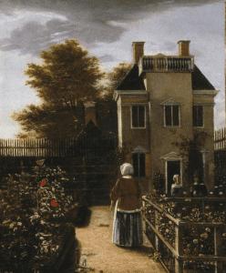 Flower Garden ca. 1660, Pieter de Hooch