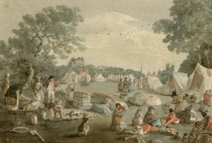 Industrious Sober Women Soldiers Wives in Burgoynes Army