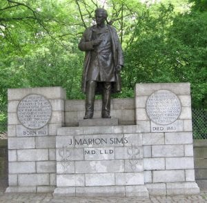 J. Marion Sims statue 5th Ave 103rd Street Manhattan