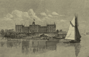 """""""The Homeopathic Hospital on Ward's Island,"""" 1875"""