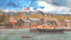 Cold Spring Harbor painting