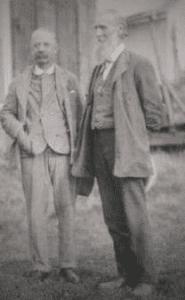 John Muir and E. H. Harriman (left) 1908