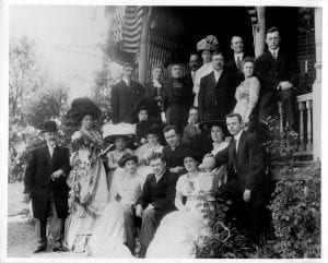 Oswald John Cathcart & Elsie C Meyer Wedding Party, Newburgh, NY, June 8, 1910