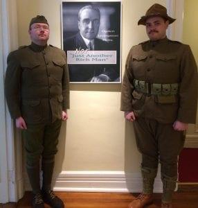 WWI Reenactors at Staatsburgh SHS