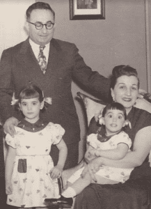 Denemark Family in the early 1950's- Be and Nathan Denemark, daughters Debrah and Gael