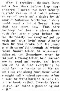 newspaper clipping from the Uncle Noel column