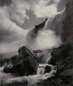 Niagara Falls (Cave of the Winds), ca. 1888 Albumen silver print from glass negative Collection of Alexandra C. Anderson