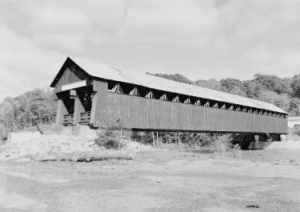 Old Covered Wooden Bridge at North Blenheim
