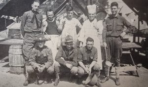 Standing (left to right) are Cyril Engelbride, Sterrit Keefe, Howard Rogers, Bernard Martin, Walter Allison. In the lower row are John T. Kenney, Edward Shay and Arthur Leghorn.