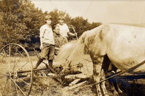 Haying in the Town of Denning, 1920s
