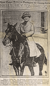 Nellie Bly as a Herald in the 1913 Washington, DC Suffrage Parade